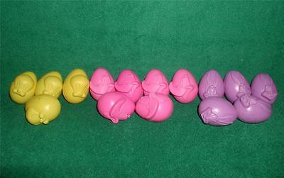 """EASTER Disney Character eggs 15-Vintage Collectable Refillable Plastic 2-1/2X 2"""""""