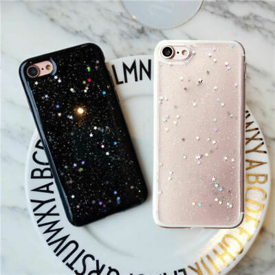 Sparkle Crystal Bling Heart Glitter Phone Case Cover For Apple iPhone 8 6 7 Plus