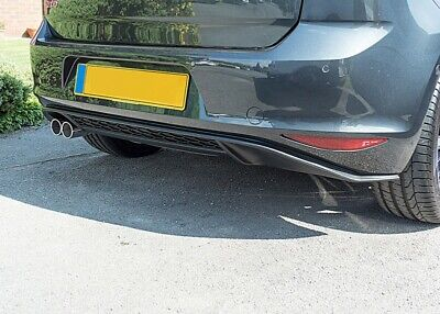 VW Golf MK7 7 Low Rear Bumper Diffuser Spoiler Lip Sport Valance Splitter GTI-