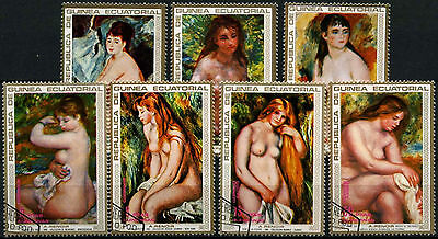 Equatorial Guinea 1973 Renoir, Nude Paintings Cto Used Set #D39415