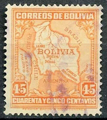Bolivia 1930-7 SG#258, 45c Map Used #D39426