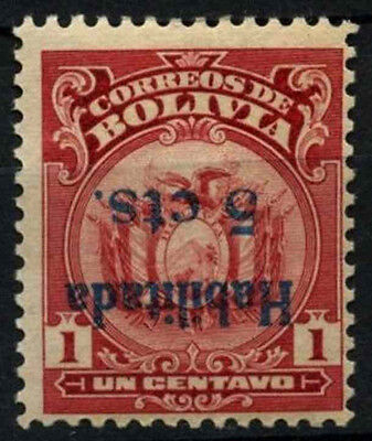 Bolivia 1923-1924 SG#165a 5c On 1c Surch Inveted Error MH #D39452