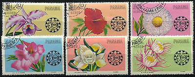 Panama 1966 SG#927-932 Flowers Cto Used Set #D39412