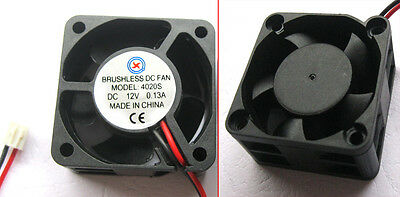 10 PCS DC Cooling 12V Fans Turbine Brushless Fan 40 x 40 x 20mm 4020S