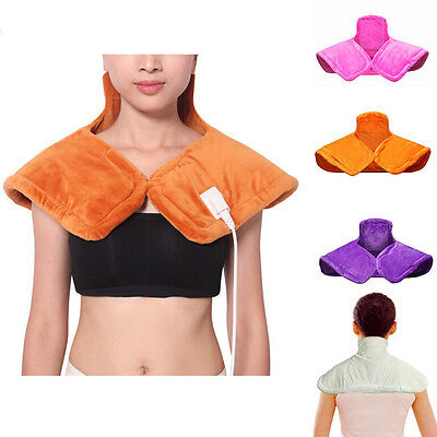 Pure Comfort Electric Heated Shoulder Neck Pad Warm Heater Relaxation For Gift