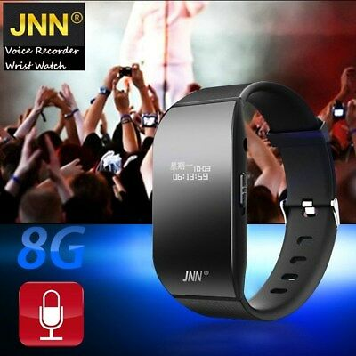 Latest JNN S4 8GB Digital Voice Recorder Wristband Bracelet USB MP3 Sound Record