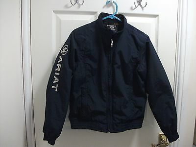 ariat childs jacket navy blue used