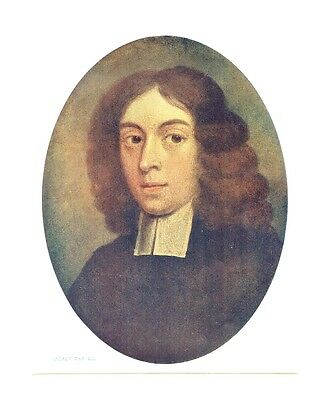 Andrew Marvell - Poet, Satirist & Politician - Litho from an Earlier Portrait