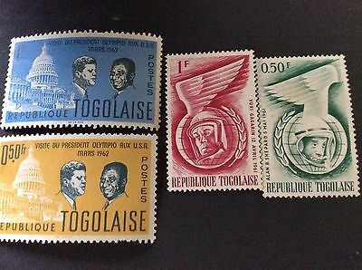 Togo Stamps. Kennedy Visit And Space. 61&62