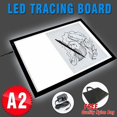 A2 LED Light Box Art Design Stencil Drawing Board Tracing Copy Pad Lightbox Bag