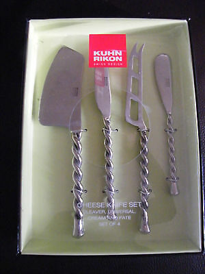 Kuhn Rikon Cheese Knives Set Cheese Knife Bnib New Boxed Stainless Steel Swiss