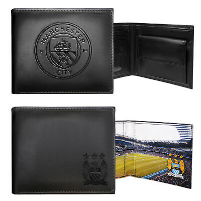 Manchester City FC Official Football Gift Embossed Crest Wallet
