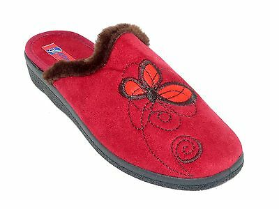 Mules femme chaussons hiver rouges pointure 41.