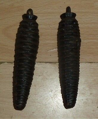 Pair of matching vintage cuckoo clock weights 275g each