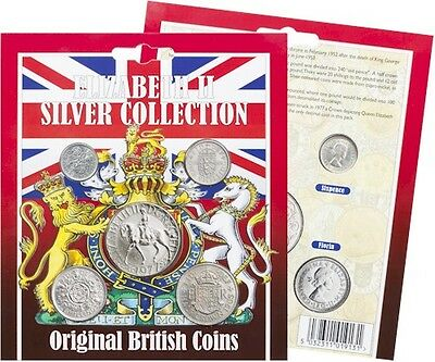 Queen Elizabeth II Silver Collection British Coins (Shilling, sixpence etc)