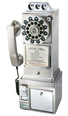 Chrome Classic 1950s Retro Diner Phone Payphone by Wild & Wolf