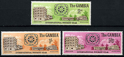 Gambia 1967 SG#250-2 Int. Tourist Year MNH Set #D38241