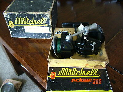 Vintage Mitchell 308 Prince Fixed Spool Fishing Reel
