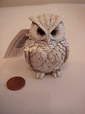 New Detailed Resin Ceramic Pottery Collectible Owl Figurine Gift Ornament Charm