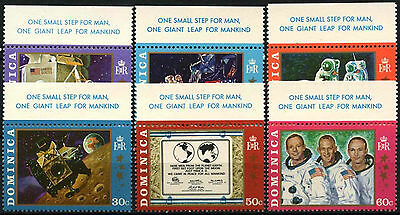 """Dominica 1970 SG#296-301 Moon Landing """"With One Giant Leap"""" Tabs MNH Set #D38115"""