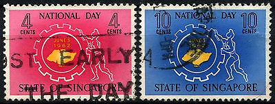 Singapore 1962 SG#78-9 National Day Used Set #D38059