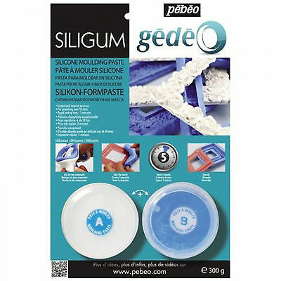 PEBEO Siligum Silicone Food Safe Moulding Casting Paste Dolls House Craft 300g
