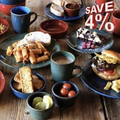 Coloured Spanish Tapas Dishes Bowls Ramekins Red Green Blue Cazuelas Dishes