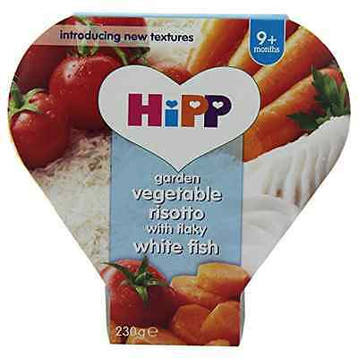 Hipp Garden Vegetable Risotto with Flaky White Fish Tray Meal Stage 3 from 9 Mon