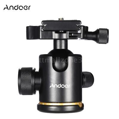 360° Swivel Camera Tripod Ball Head with Quick Release Plate Mount Holder F9J0