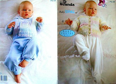 Panda Knitting Pattern Pamphlet - 4 BABY DESIGNS - 1 to 9 Months in 8 Ply - VGC