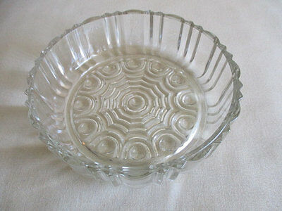 Vintage Anchor Hocking Old Cafe Round Candy Dish Clear Glass