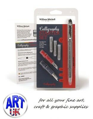 William Mitchell CALLIGRAPHY STARTER SET italic Roman round hand Uncial pen ink
