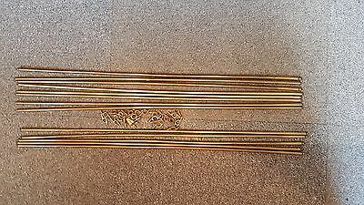 Antique Brass Stair Rods x13 off with clips 23