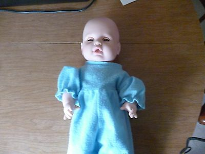 """Vintage Eegee Softina Baby Boy doll 15"""" drinks and wets"""