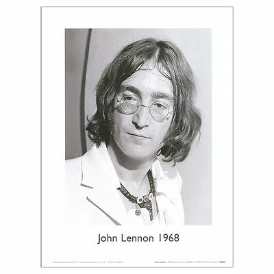 John Lennon poster. A4 Black and White Print 30 x 21 cm