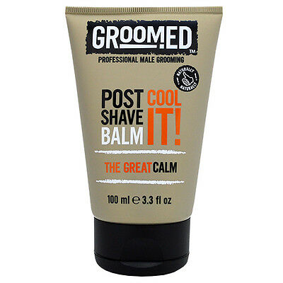 5  X Groomed Cool It! Professional Male Grooming Post Shave Balm 100ml each