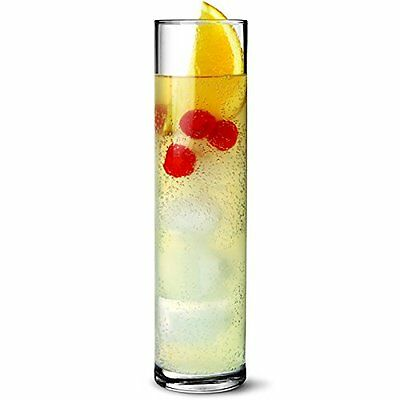 Tall Cocktail Glasses 13oz / 370ml - Pack of 6 | Ideal for Tom Collins Cocktails