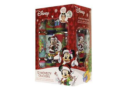 Disney Minnie Mickey Mouse 12 Pack Childrens Xmas Christmas Crackers Table Decor
