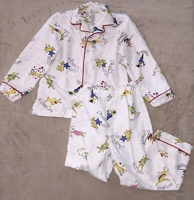 Pottery Barn Kids 2pc Flannel Girl Boy REINDEER Christmas Pajamas PJs Sz 6 RARE