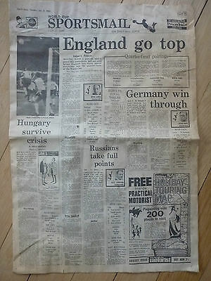 1966 World Cup Build Up   England  Unusual Paper  Ephemera
