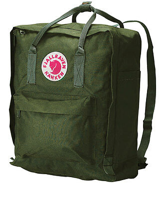 Mochila in Fjall Raven Kanken Classic Style Green Swedish arctic fox backpack
