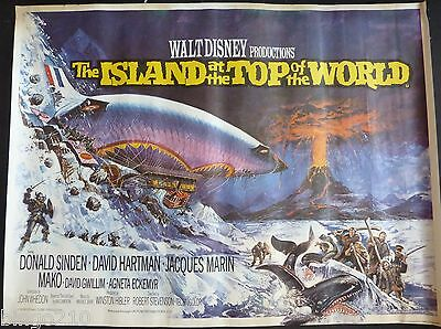 The Island At The Top Of The World Orig 1974 Cinema Quad Poster Rolled  Disney