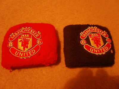 Set of 2x boys MANCHESTER UNITED man utd wrist sweat bands wristbands sweatbands