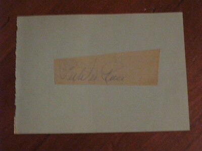 Pee Wee Reese Autographed Index Card JSA Auc Certified