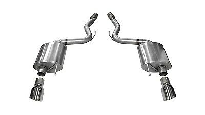 Corsa Performance 14329 Touring Axle-Back Exhaust System Fits 15-17 Mustang