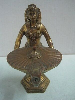 Antique oil lamp, flashlight, torch, lamp, in bronze An Egyptian