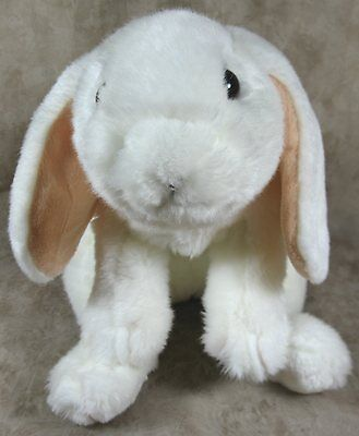 Animal Alley White Plush Lop Ears Bunny Rabbit Weighted Bottom 2000