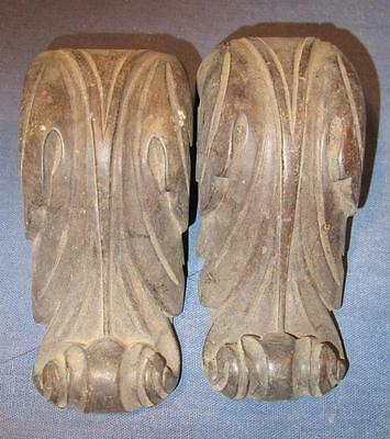 Pair of Antique carved wood furniture fitting.