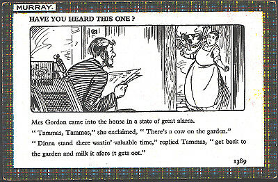 Literature Postcard - Murray - Have You Heard This One? - Mrs Gordon  BH6396