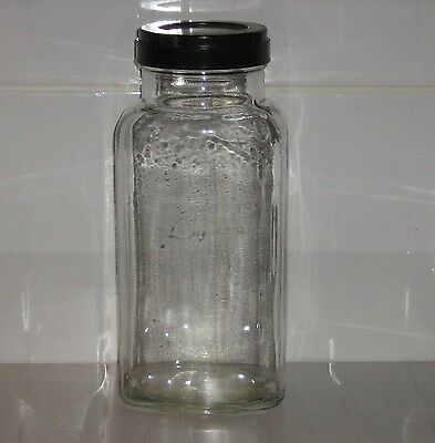 Vintage Large Glass Retro Sweet Shop Sweet Storage Jar - Black Bakelite Lid